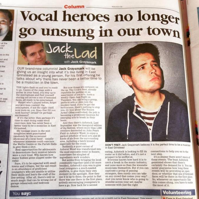 "I'm certainly a ""vocal hero"" of my town at least!"
