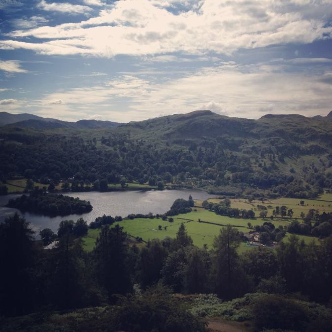 Looking down to Grasmere