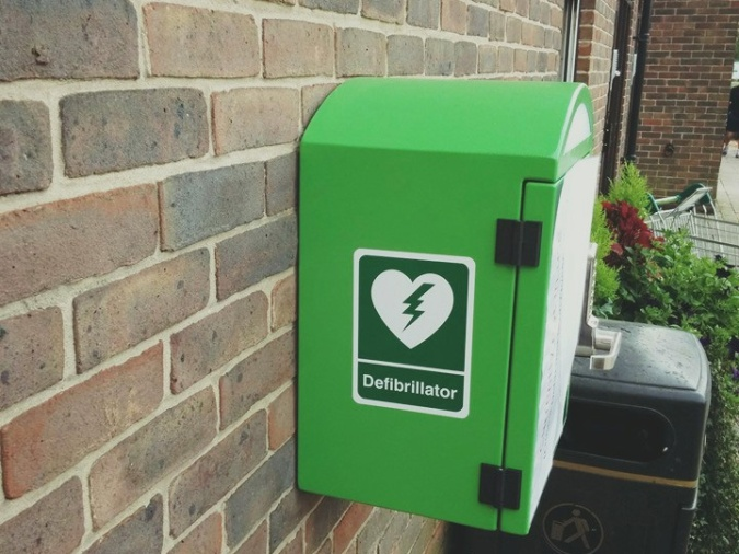 One of the defibrillators now installed in our town as a result of the Survival Can Be Shocking campaign. Start a cause, make a difference; simple as that really.